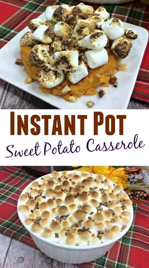 Instant Pot Sweet Potato Casserole  Instant Pot Sweet Potato Casserole Recipe Lady and the Blog