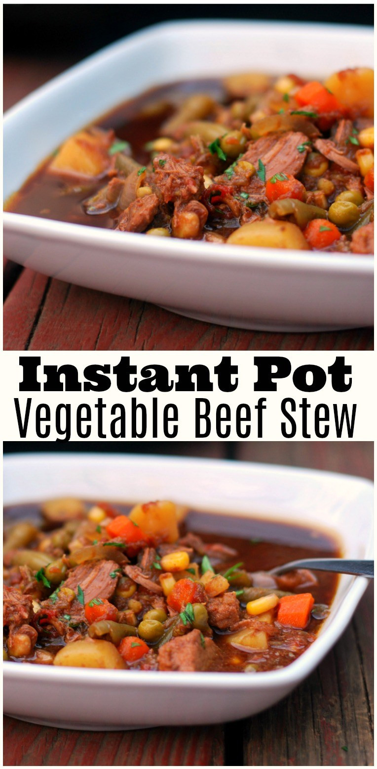 Instant Pot Vegetable Stew  Instant Pot Ve able Beef Stew Aunt Bee s Recipes