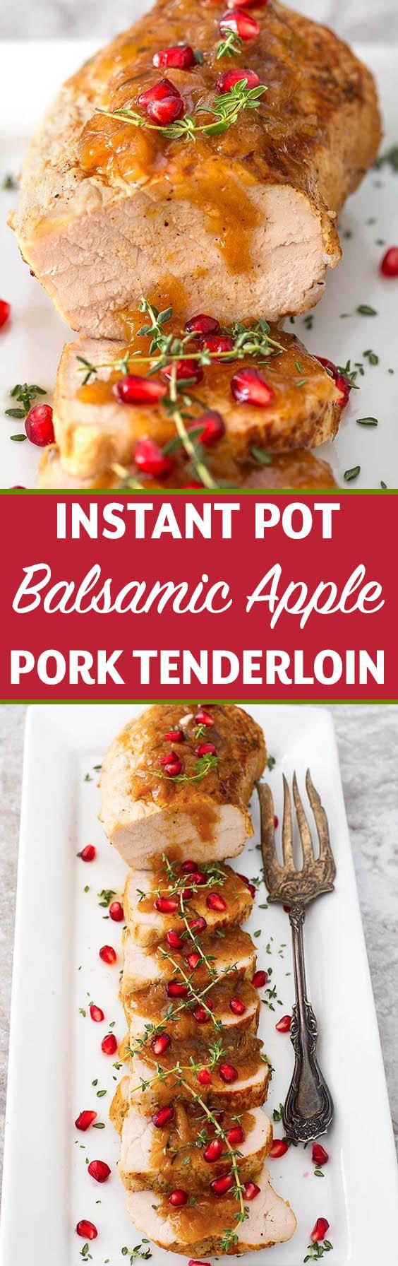 Instapot Pork Tenderloin  Instant Pot Balsamic Apple Pork Tenderloin