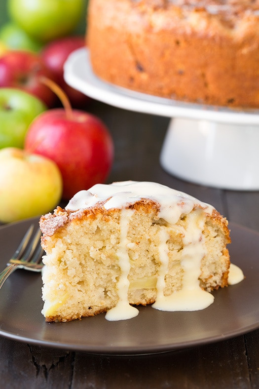 Irish Apple Cake  Irish Apple Cake with Custard Sauce by Cooking Classy