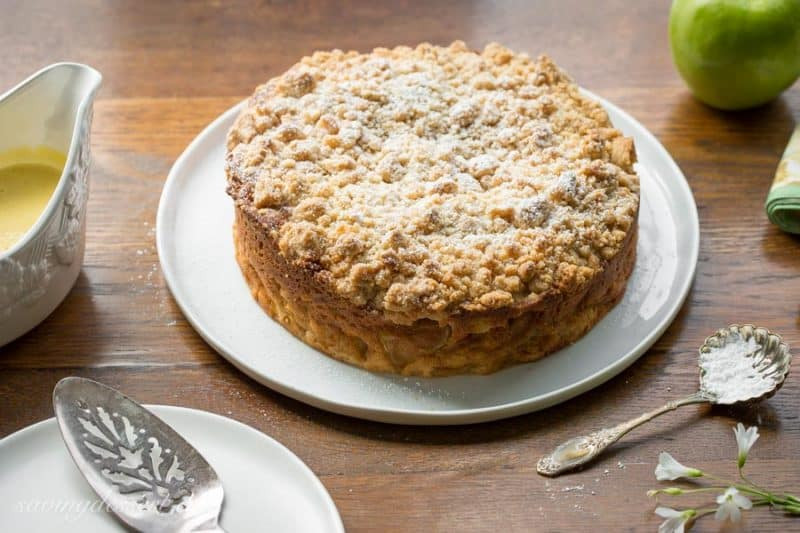 Irish Apple Cake  Irish Apple Crumble Cake with Apple Brandy Sauce Saving