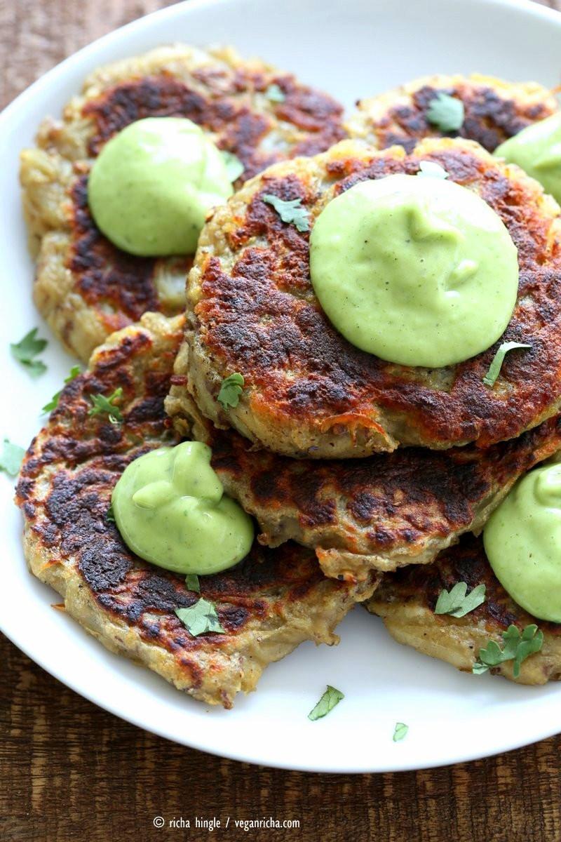 Irish Potato Pancakes  Irish Potato Cakes Boxty with Avocado Basil Ranch