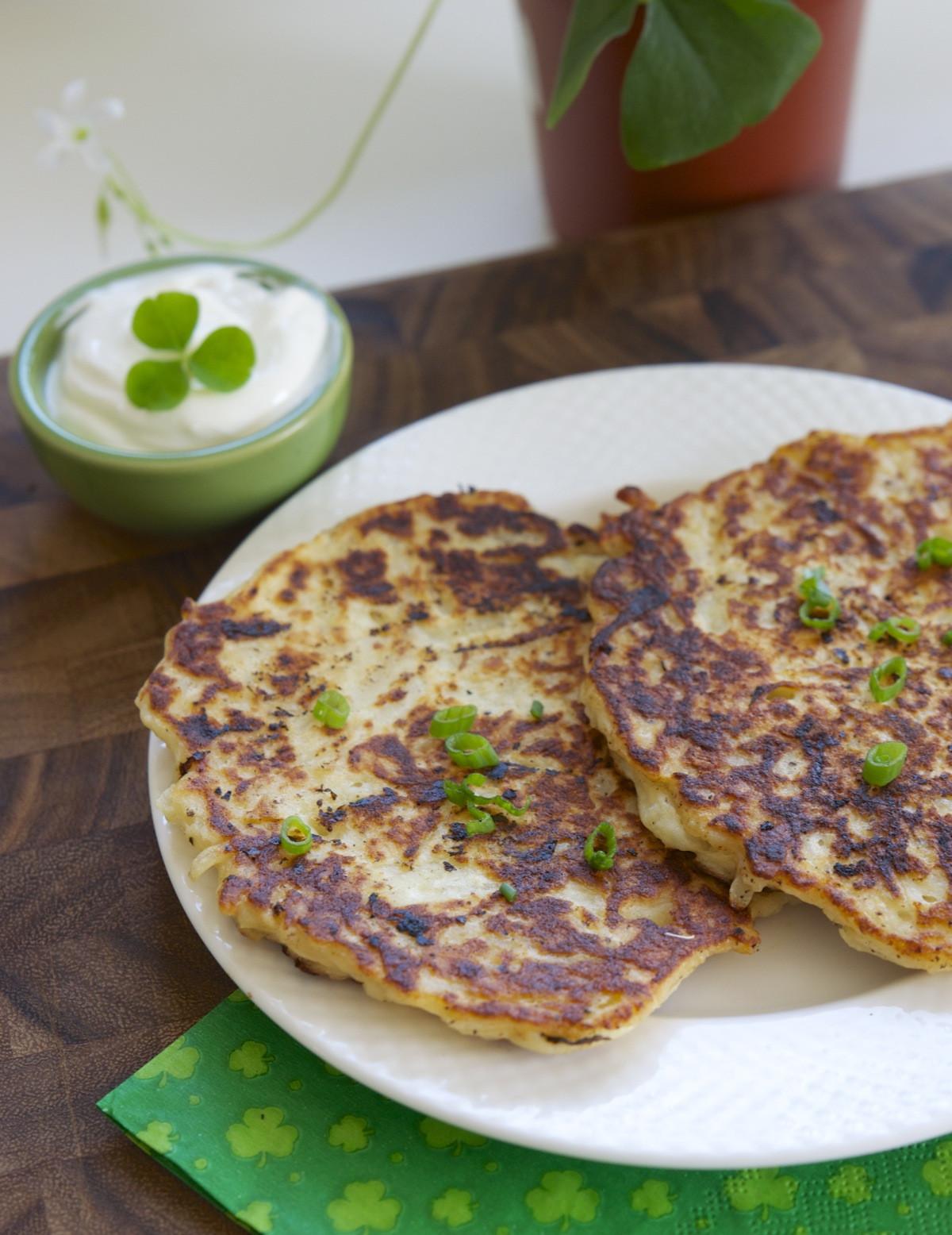 Irish Potato Pancakes  Luck of the Irish the dinnervine