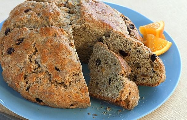 Irish Soda Bread With Raisins  Irish Soda Bread with Raisins and Nuts Recipe by Marlin