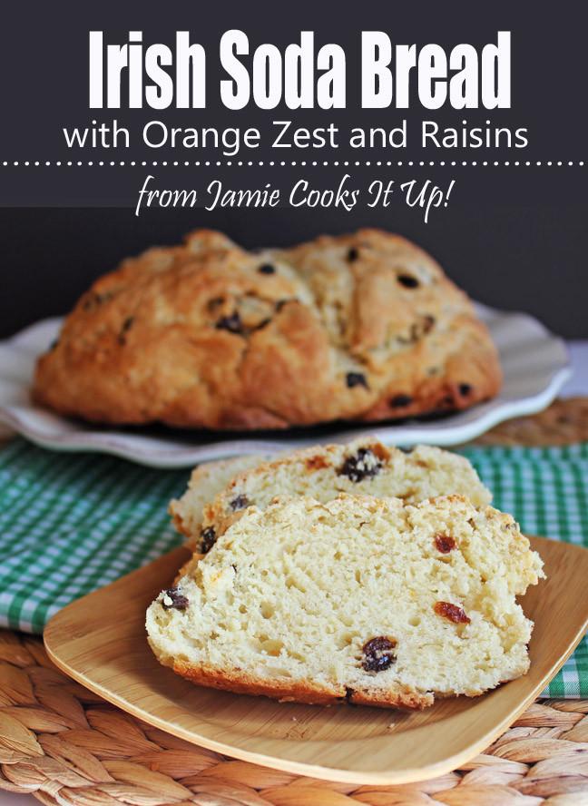 Irish Soda Bread With Raisins  Irish Soda Bread with Orange Zest and Raisins