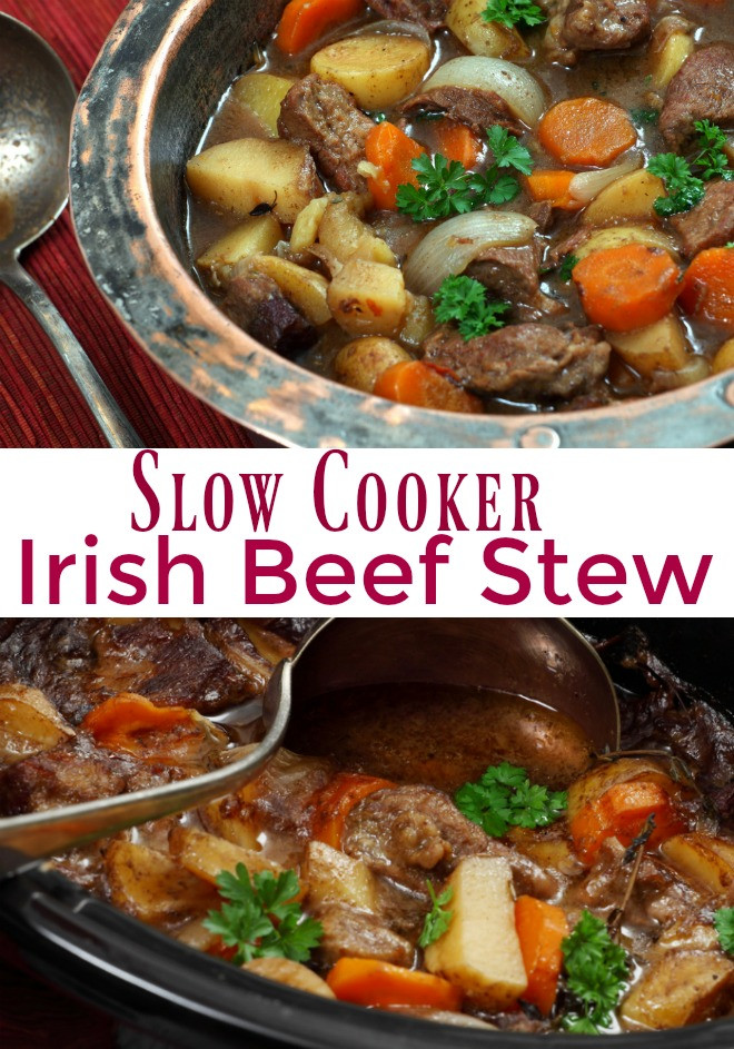 Irish Stew Slow Cooker  Irish Beef Stew and Saint Patrick s Day Giveaway An Alli