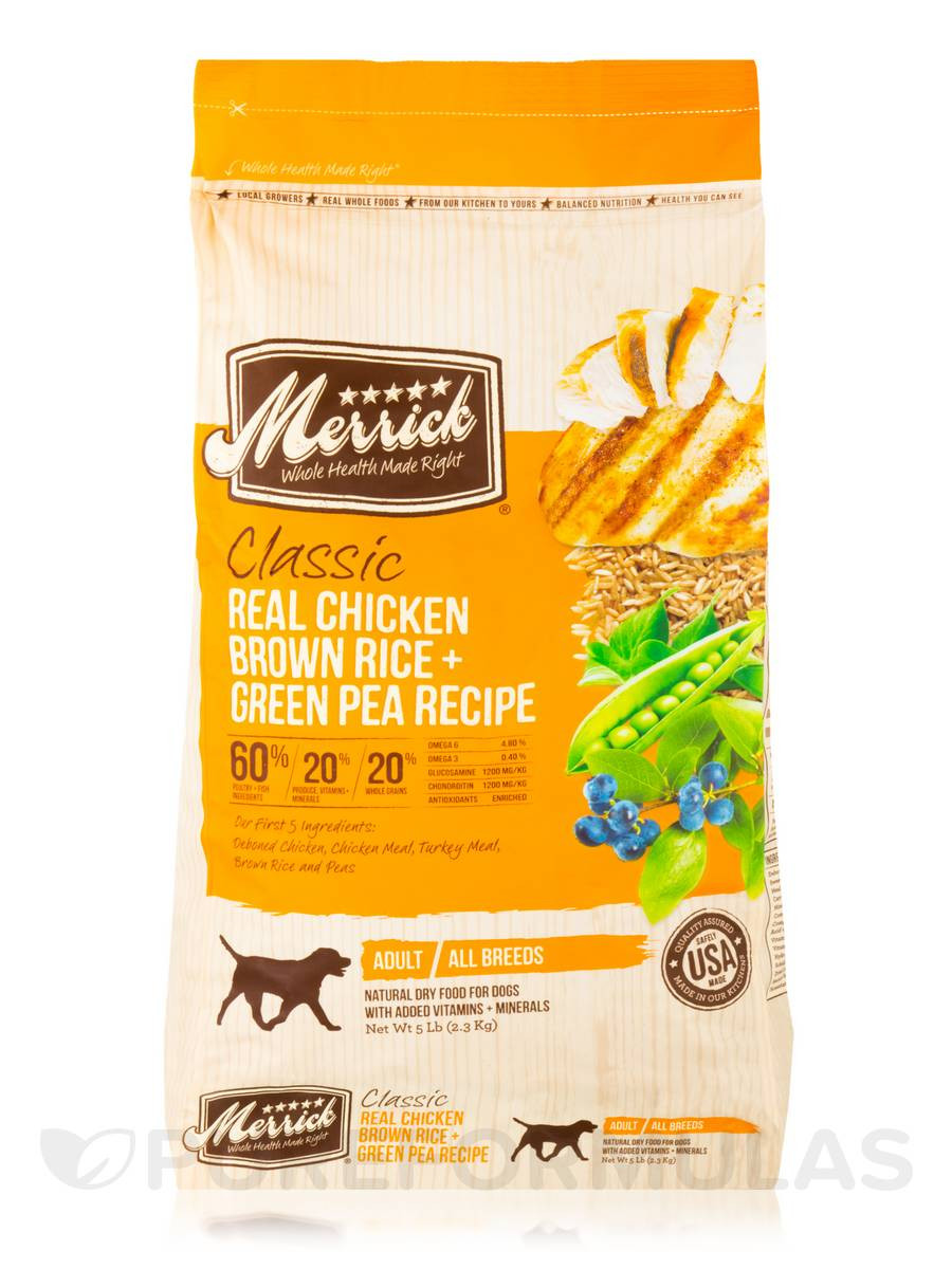 Is Brown Rice Good For Dogs  Classic Real Chicken Brown Rice Green Pea Recipe for