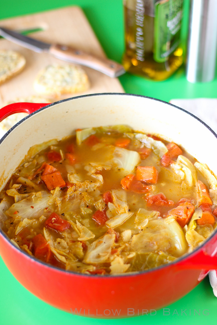 Is Cabbage Healthy  Light and Healthy Cabbage Soup with Easy Cheese Toasts