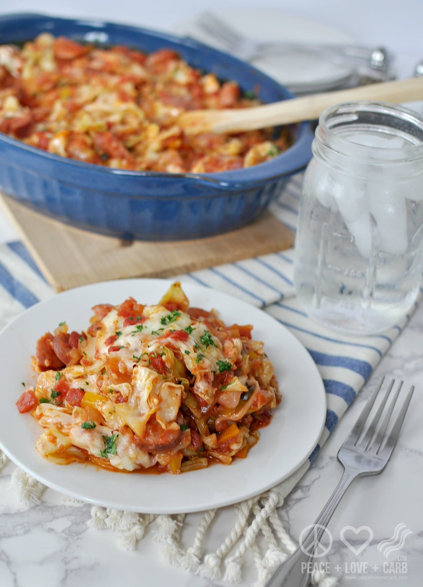 Is Cabbage Low Carb  Cheesy Sausage and Cabbage Casserole