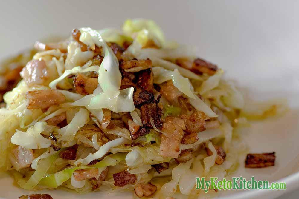 Is Cabbage Low Carb  Low Carb Buttery Bacon and Cabbage Stir Fry