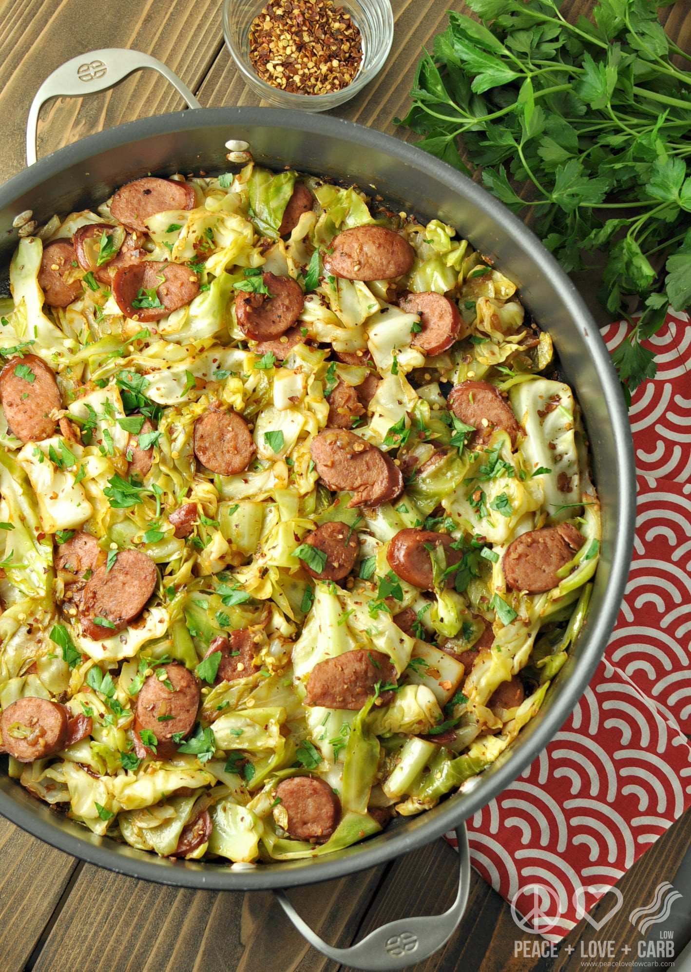 Is Cabbage Low Carb  Fried Cabbage with Kielbasa Low Carb Paleo Gluten Free