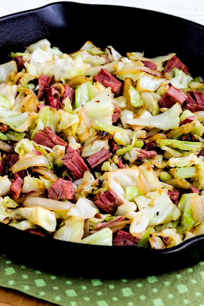Is Cabbage Low Carb  Low Carb Fried Cabbage with Corned Beef Kalyn s Kitchen