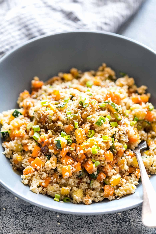 Is Cauliflower Low Carb Low Carb Asian Cauliflower Rice Recipe Vegan GF ready