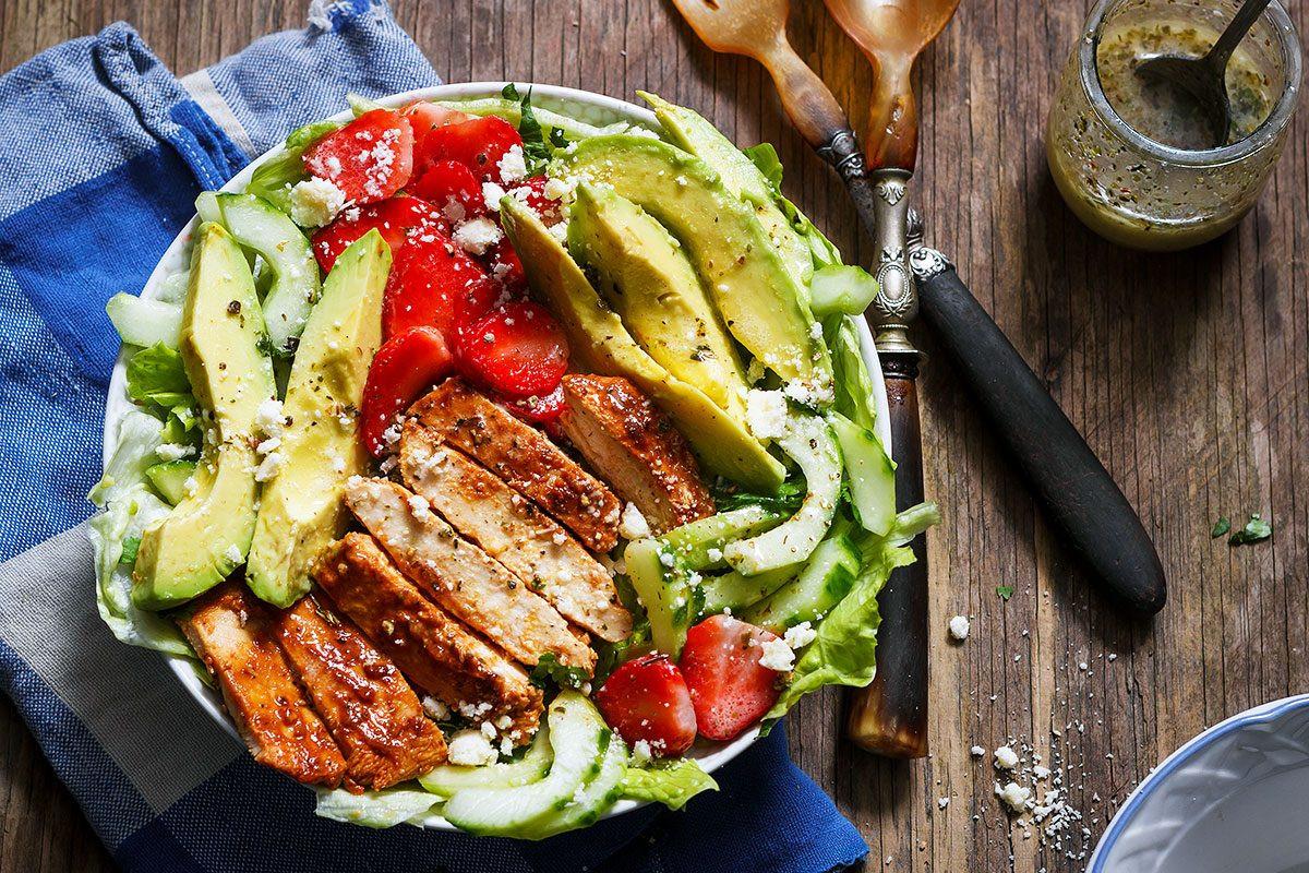 Is Chicken Salad Healthy  Grilled Chicken Salad Recipe with Avocado – strawberries