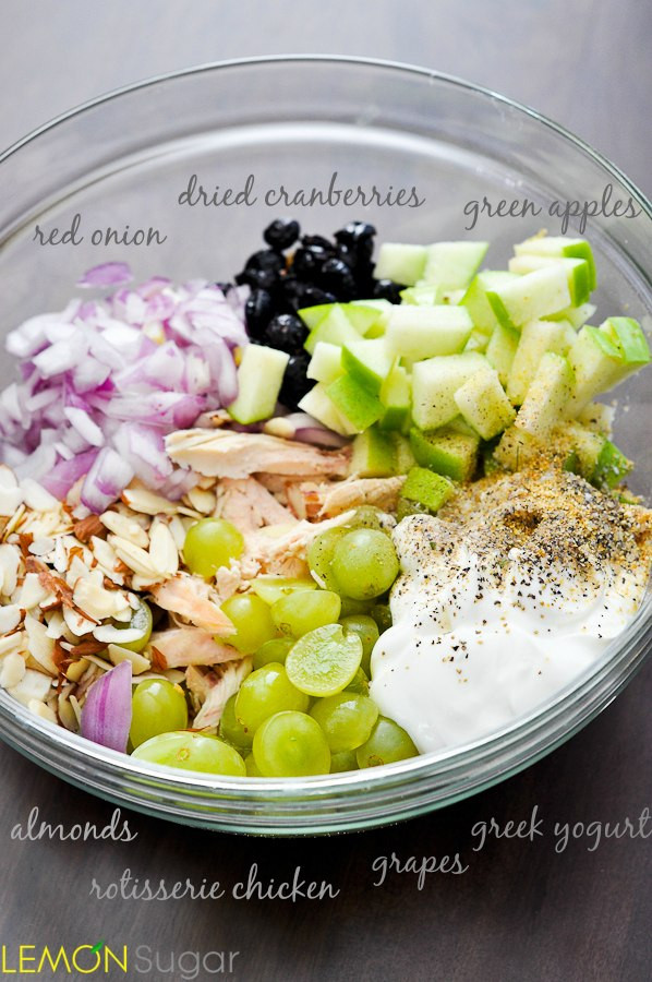 Is Chicken Salad Healthy  chicken salad recipe with grapes and apples and almonds
