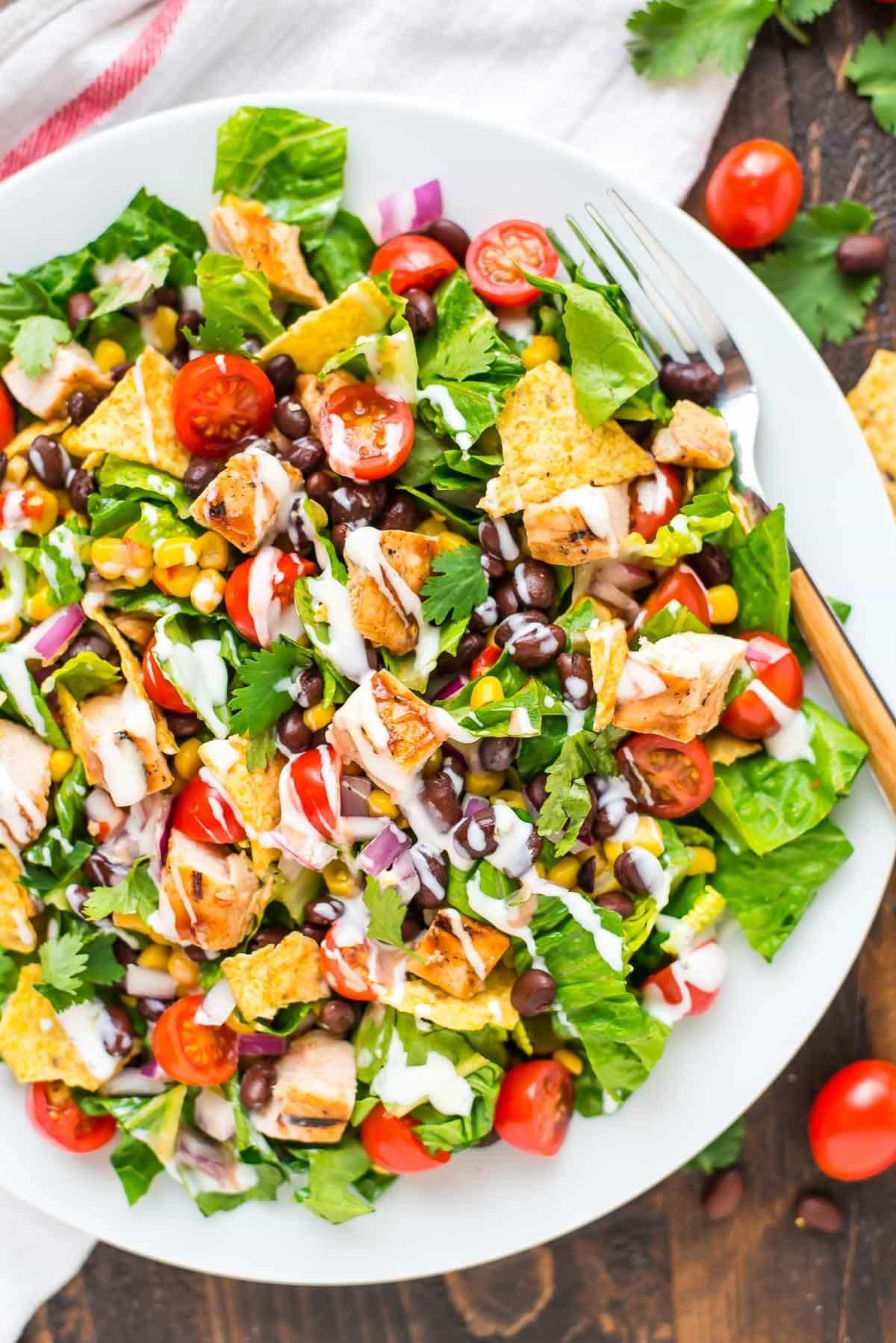 Is Chicken Salad Healthy  BBQ Chicken Salad with Creamy Ranch