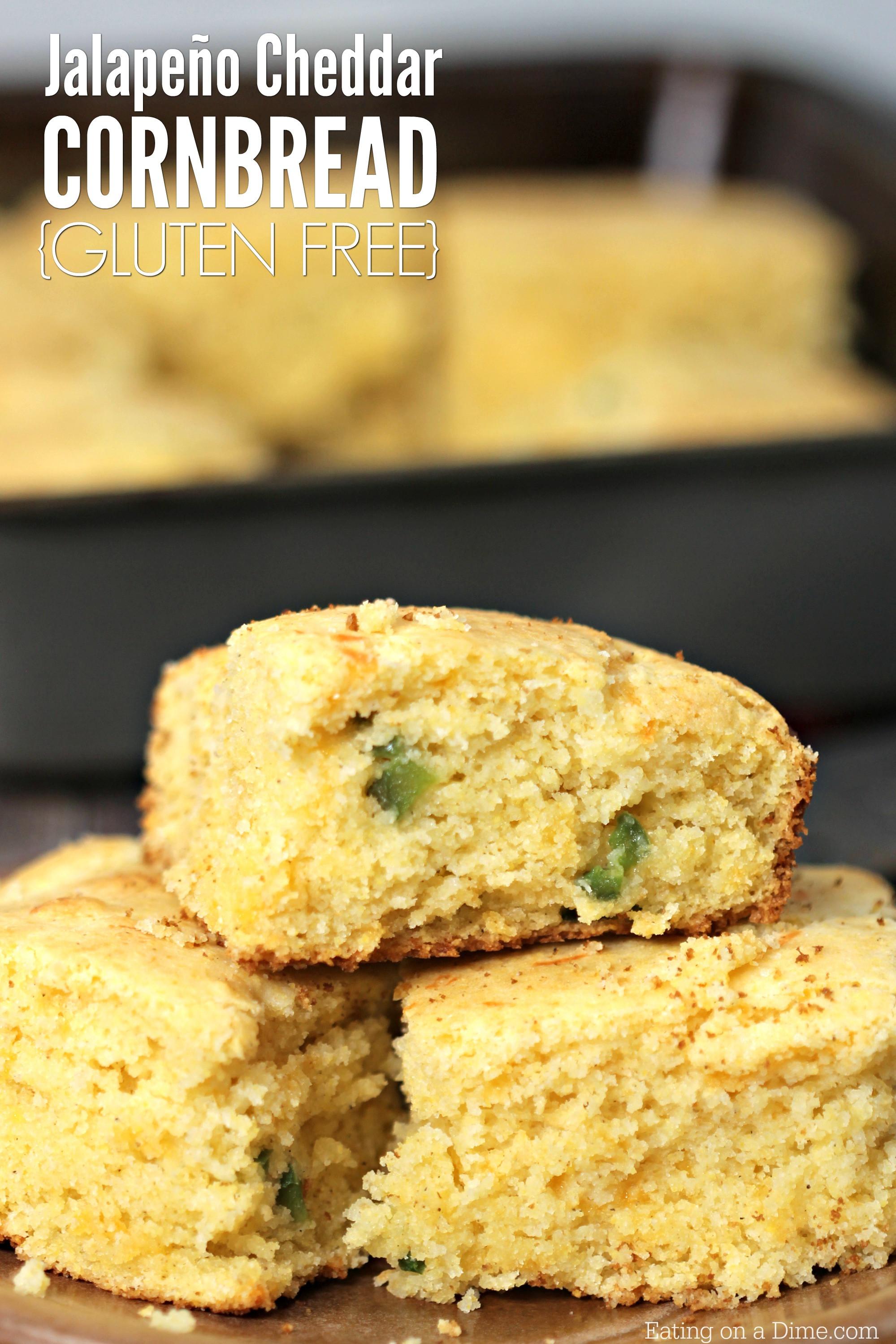 Is Cornbread Gluten Free  Gluten Free Jalapeno Cheddar Cornbread Recipe Quick and