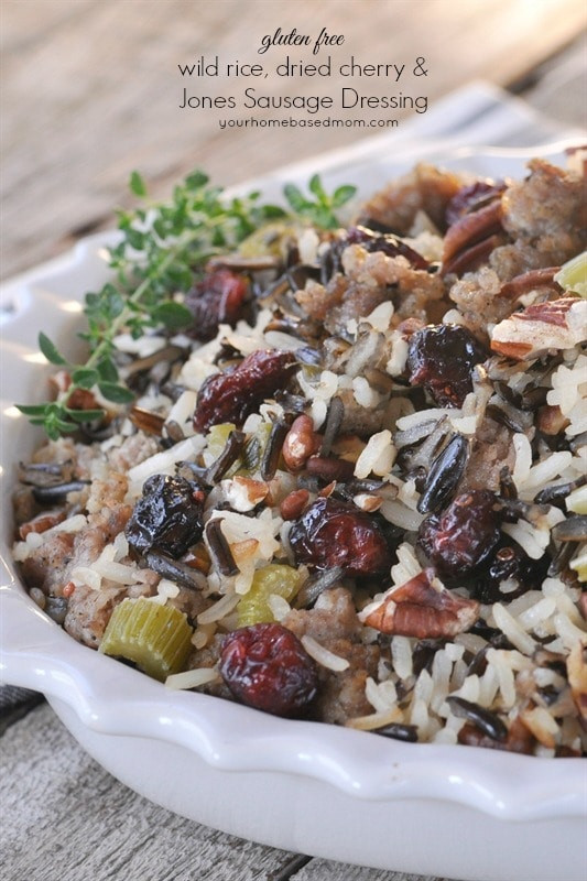 Is Wild Rice Gluten Free  Wild Rice Dried Cherry & Jones Sausage Dressing your