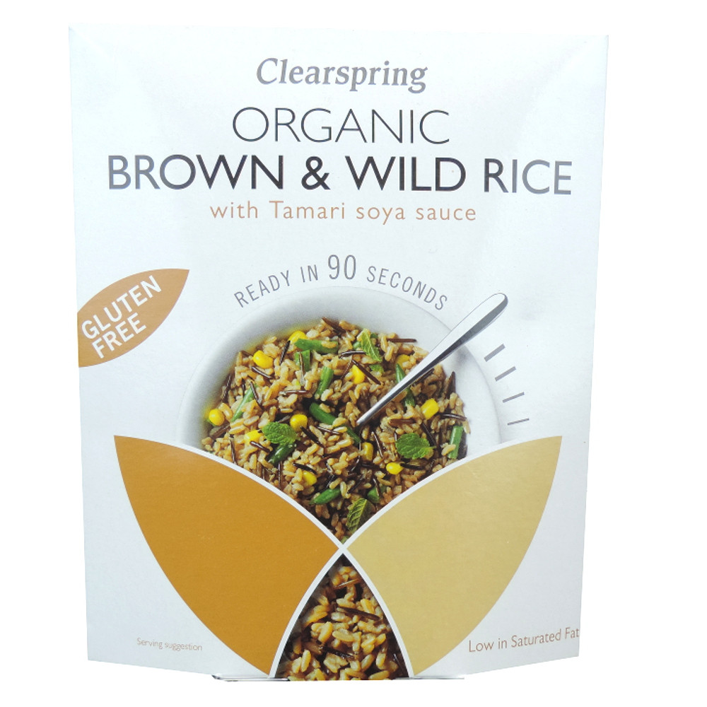 Is Wild Rice Gluten Free  Clearspring Organic Gluten Free Brown & Wild Rice with