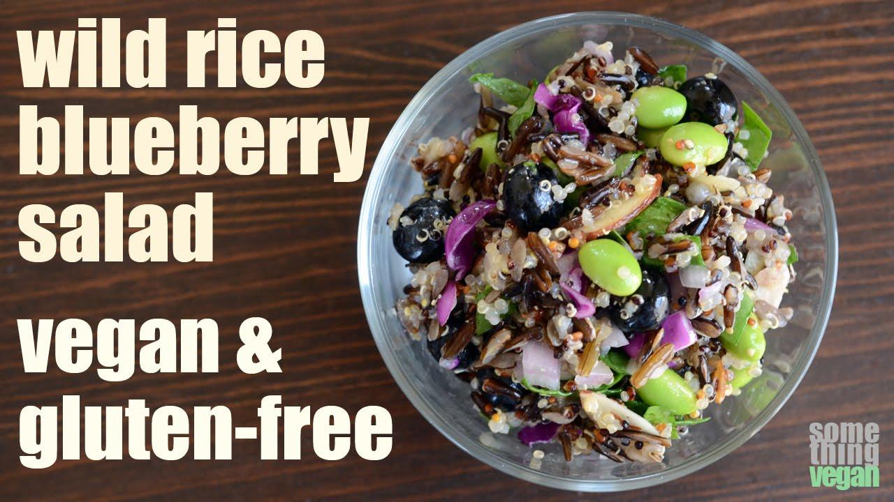 Is Wild Rice Gluten Free  wild rice blueberry salad vegan & gluten free Something