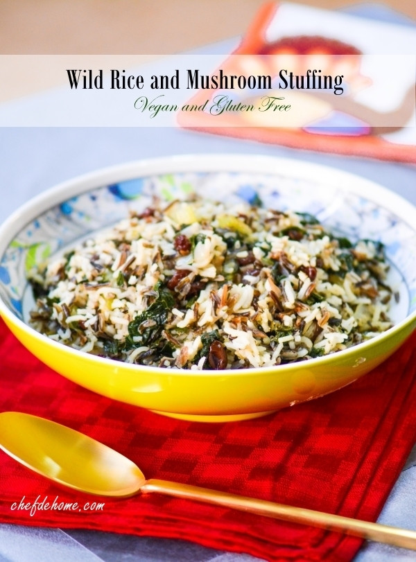 Is Wild Rice Gluten Free  Wild Rice Kale and Mushroom Stuffing Vegan and Gluten