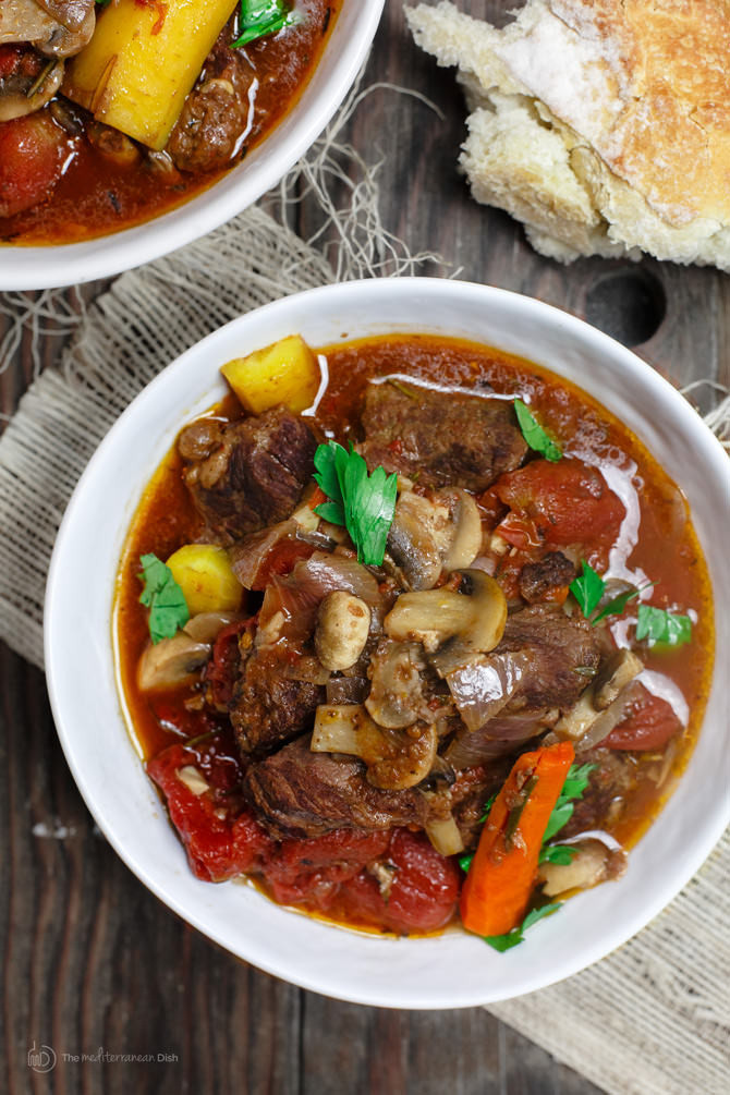 Italian Beef Stew  Rustic Italian Beef Stew in Crock Pot