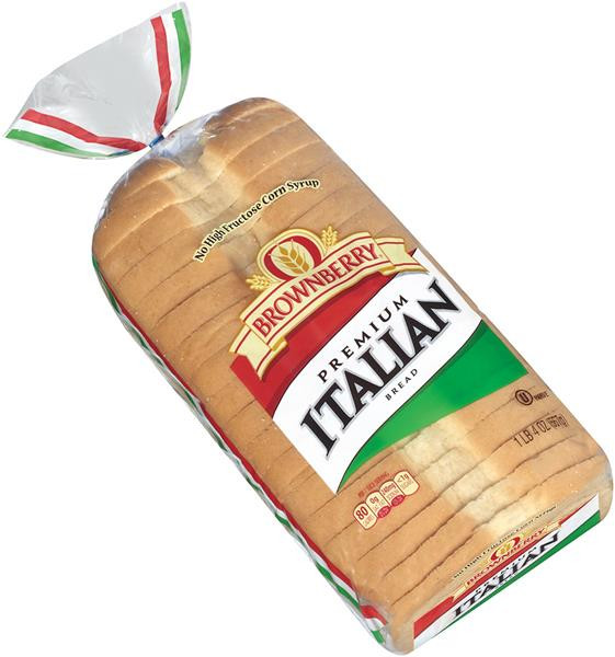Italian Bread Calories  Brownberry Bread Premium Italian