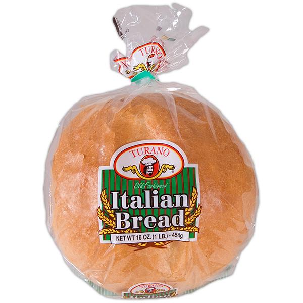 Italian Bread Calories  Italian Round Sliced 1LB Turano Baking Co