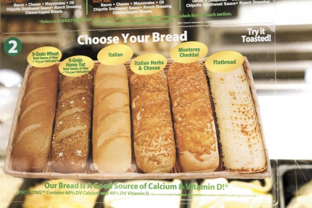 Italian Bread Calories  A review of Subway's bread selection