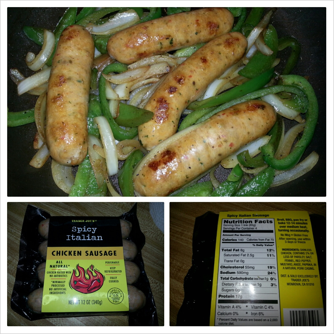 Italian Chicken Sausage  trader joe s sweet italian chicken sausage