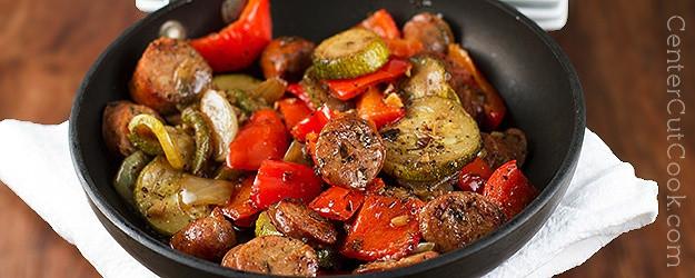 Italian Chicken Sausage Recipes  Italian Chicken Sausage Skillet Recipe