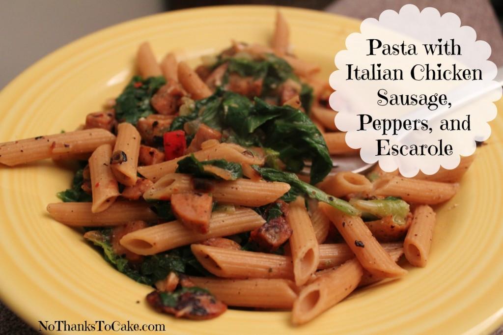 Italian Chicken Sausage Recipes  Pasta With Italian Chicken Sausage Escarole And Beans