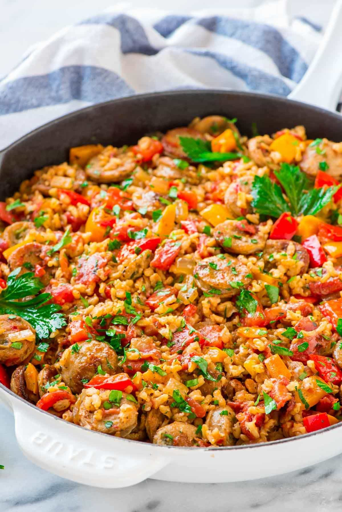 Italian Chicken Sausage Recipes  Italian Sausage and Rice Casserole