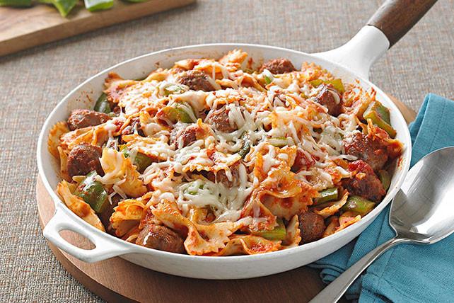 Italian Chicken Sausage Recipes  Italian Sausage and Pasta Bow Ties Kraft Recipes