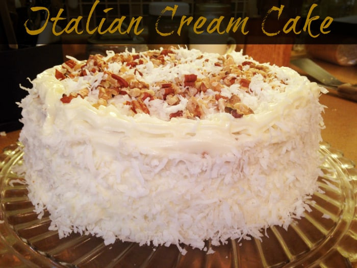 Italian Cream Cheese Cake  italian cream cake