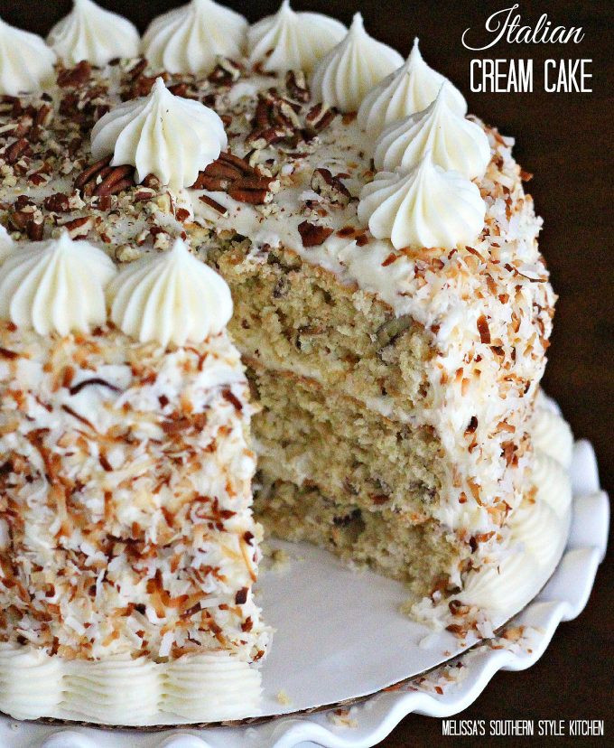 Italian Cream Cheese Cake  Italian Cream Cake melissassouthernstylekitchen