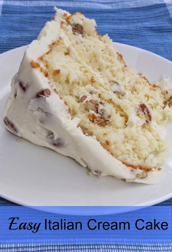 Italian Cream Cheese Cake  The Menu Easy Italian Cream Cake Sunny Days & Starry