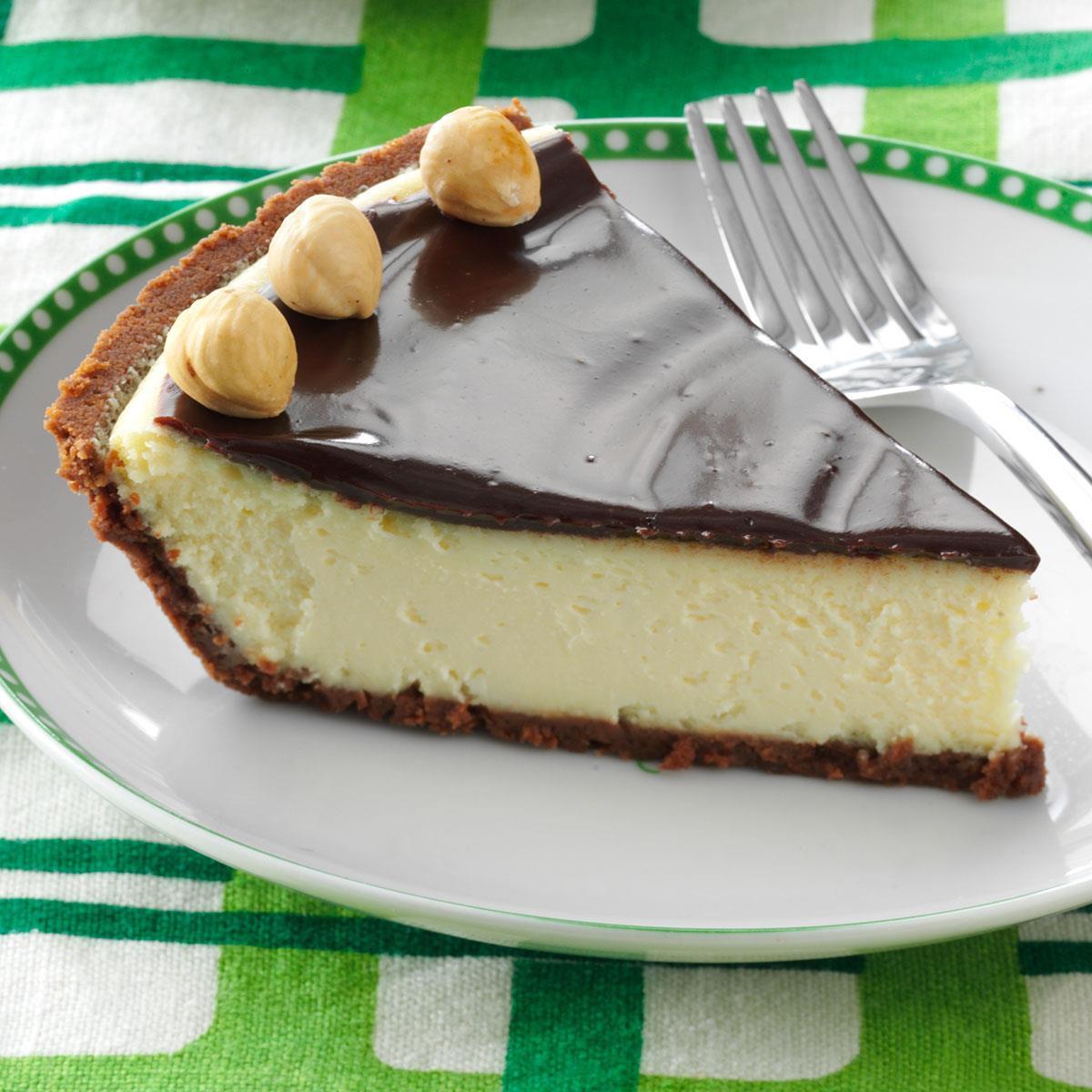 Italian Desserts Recipes  Italian Chocolate Hazelnut Cheesecake Pie Recipe