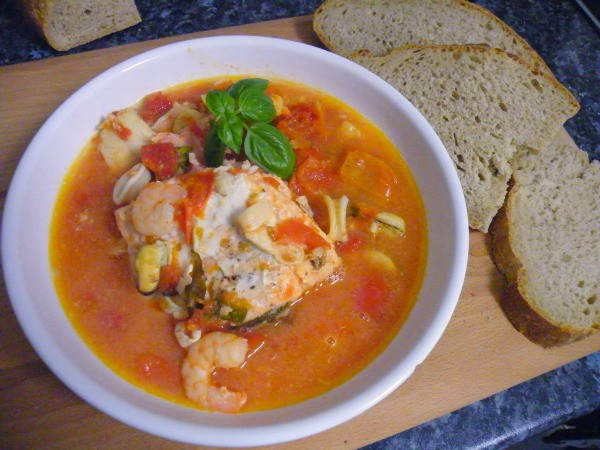 Italian Fish Stew  Italian fish stew slow cooker recipe Mari s World