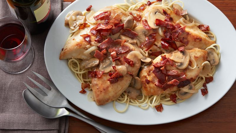 Italian Food Recipes With Pictures  Italian Smothered Chicken with Crispy Prosciutto Recipe
