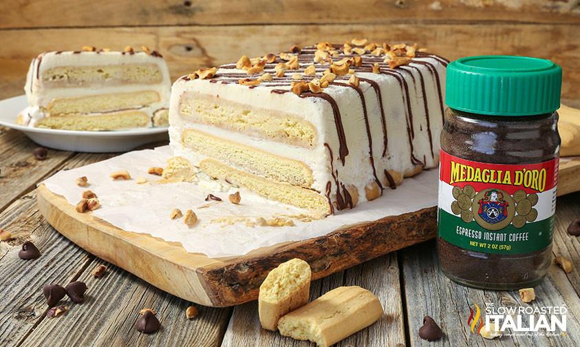 Italian Ice Cream Dessert  Tiramisu Ice Cream Cake With Video