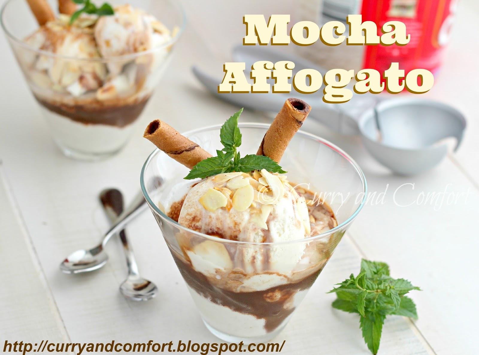 Italian Ice Cream Dessert  Kitchen Simmer Easy Mocha Affogato Italian Ice Cream