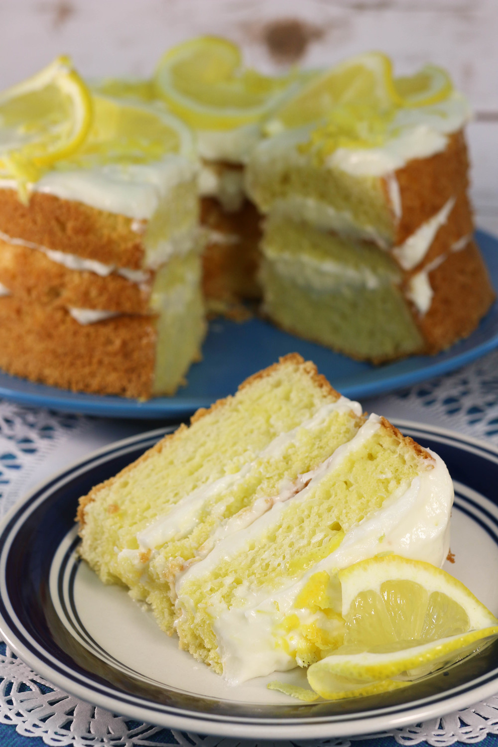 Italian Lemon Cream Cake  Italian Lemon Cream Cake