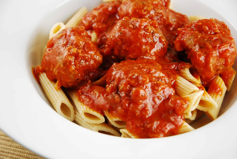 Italian Meatball Recipes  Light Italian Meatballs Recipe 5 Points LaaLoosh