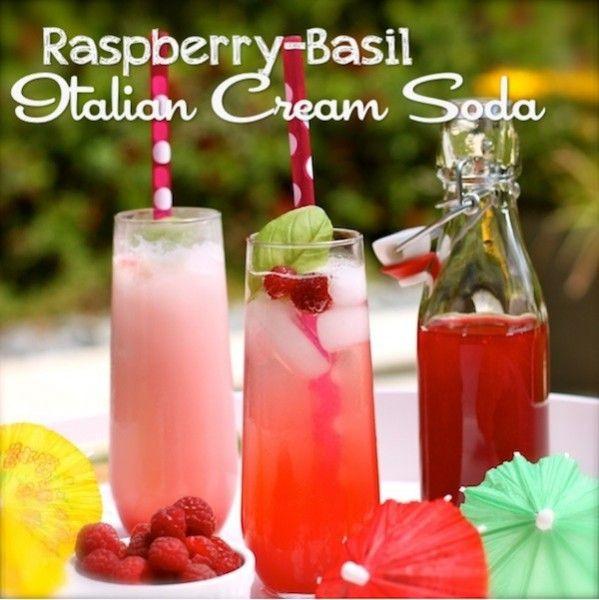 Italian Non Alcoholic Drinks  Raspberry Basil Italian Cream Soda Non Alcoholic Recipe