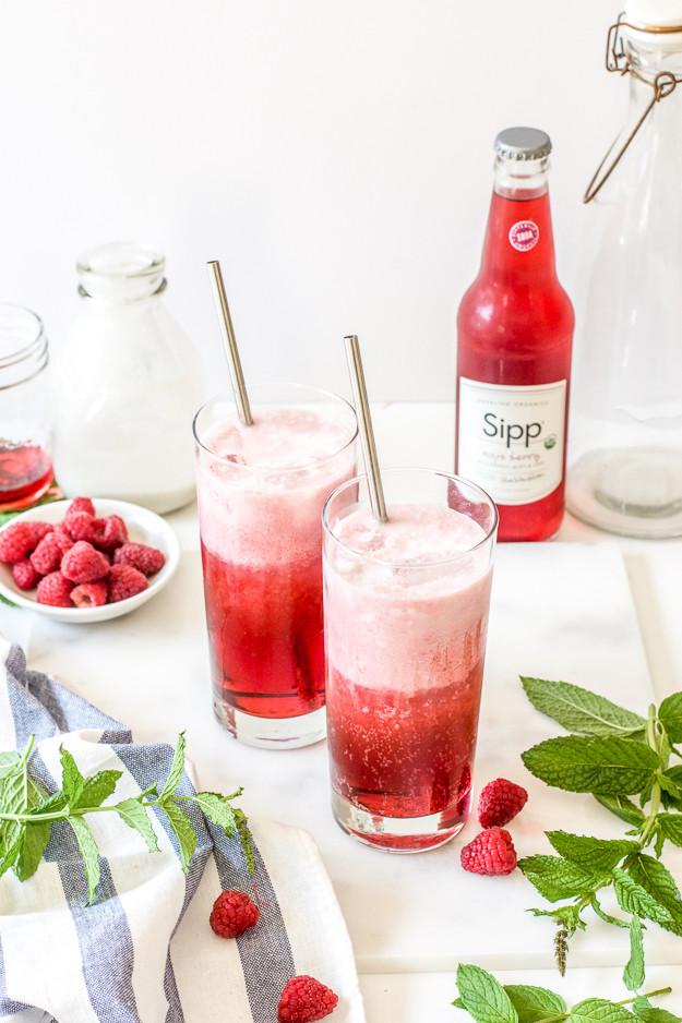 Italian Non Alcoholic Drinks  Mint Blackberry Raspberry Vegan Italian Cream Sodas