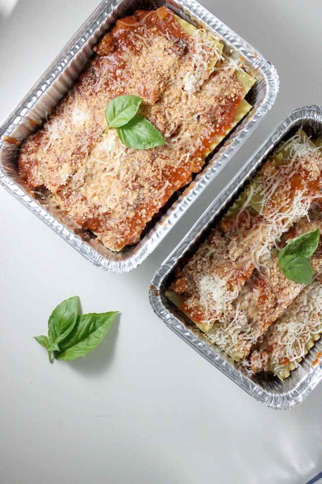 Italian Sausage Lasagna  Homemade Frozen Lasagna with Italian Sausage