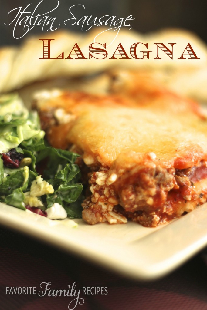 Italian Sausage Lasagna  Italian Sausage Lasagna
