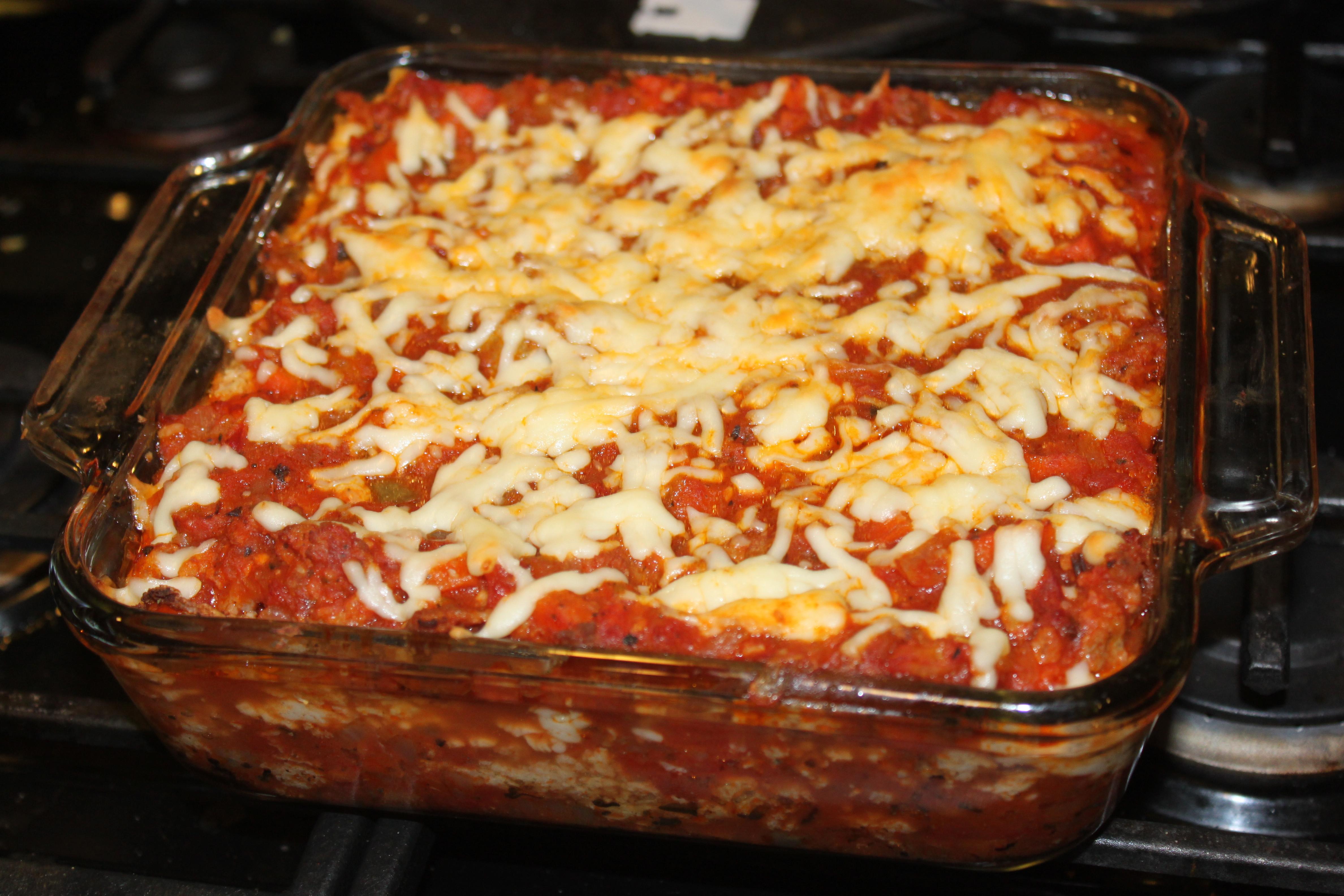 Italian Sausage Lasagna  Sweet Italian Sausage Lasagna with Cauliflower Noodles