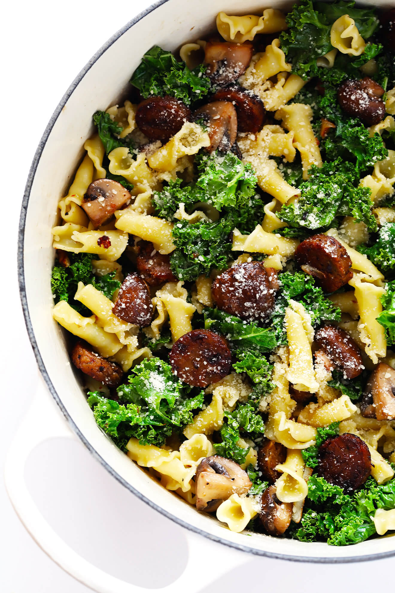 Italian Sausage Pasta Recipes  Pasta with Italian Sausage Kale and Mushrooms